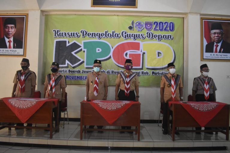 Kwarda Jateng Fasilitasi Kursus Pengelola Gugus Depan di Kwarcab Purbalingga