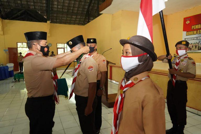 Anggota Saka Wira Kartika Purbalingga, Pekalongan dan Pemalang Ikuti Pembinaan Tingkat Korem 071/Wijayakusuma