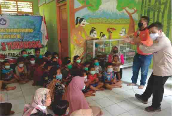Kwarcab Purbalingga Gelar Trauma Healing dan Bagikan Masker di Lokasi Bencana Alam Tanah Bergerak Dusun Pagersari