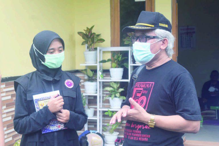Ini Pesan Ka Kwarcab Purbalingga, Kak Subeno: Anggota Pramuka Harus Bisa Beri Contoh Perilaku Taat Prokes Selama PPKM