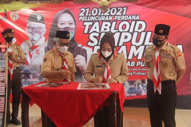 Ka Mabicab, Kak Dyah Hayuning Pratiwi Luncurkan Tabloid 'Simpul Pramuka' Kwarcab Purbalingga