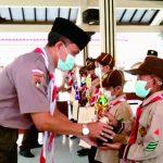 Kamabiran Bobotsari Serahkan Piala Kejuaraan Pesta Siaga tingkat Kwaran