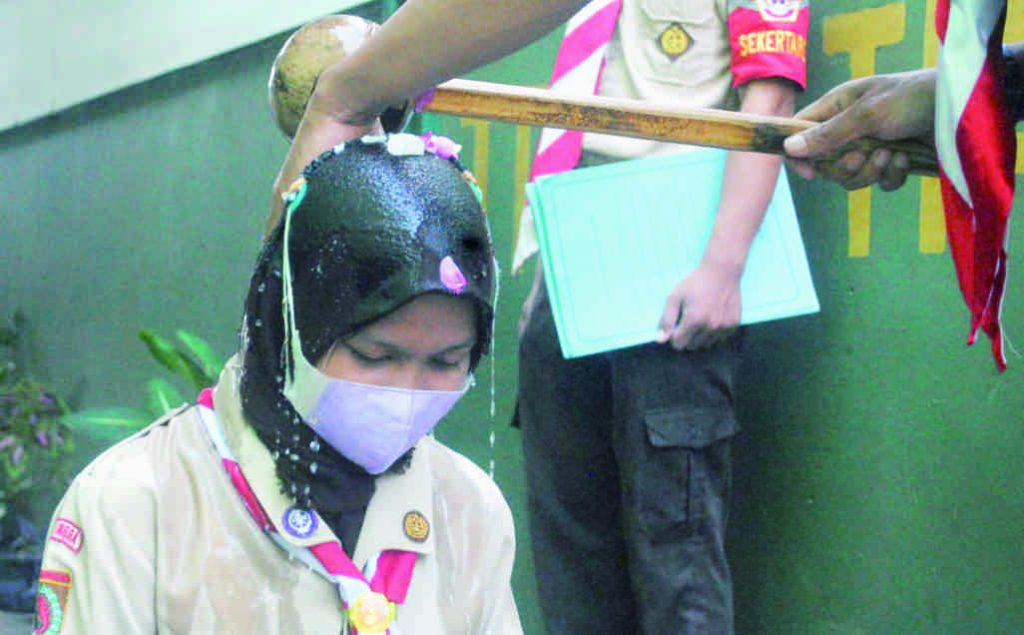 Pelantikan anggota SWK Kwartir Ranting 11.06 Bobotsari