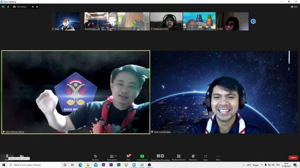 Pelatihan operator zoom meeting secara virtual. Kamis (12 Agustus 2021)