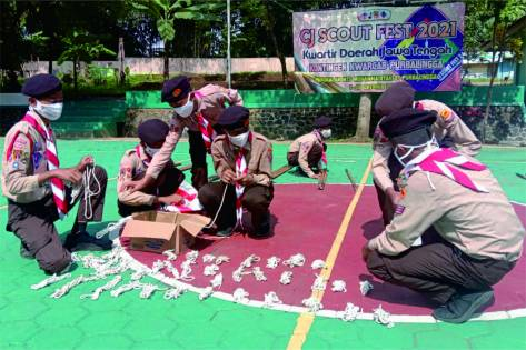 Pramuka Purbalingga Ikut Central Java Scout Festival Virtual